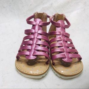 Cat & Jack Size 7 Purple Glitter Sandals